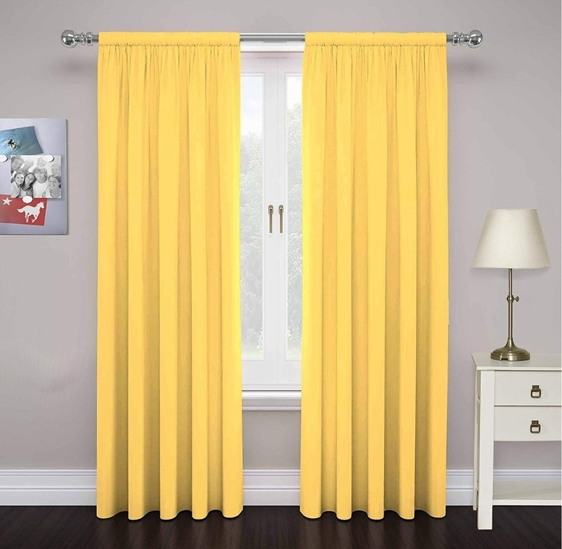 Yellow backdrop curtains (2)
