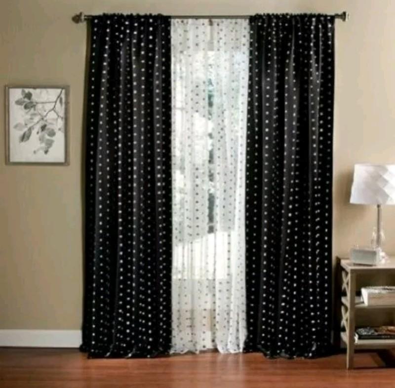 Black and White Polka dot backdrop curtain
