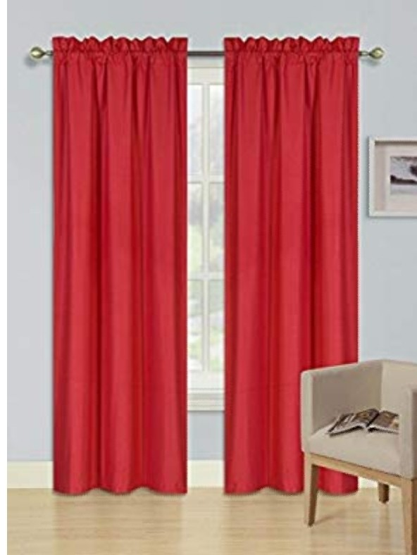 Red curtains for backdrop