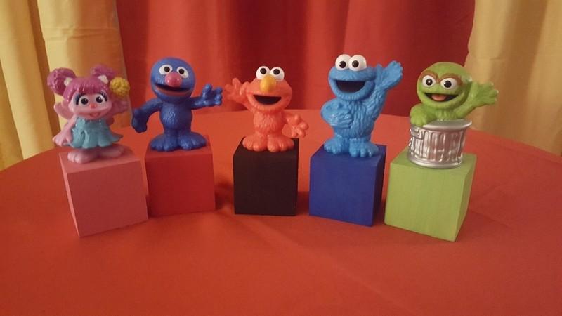 Sesame street characters set of (5)
