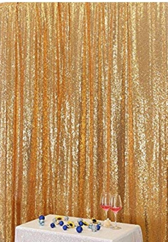 Light Gold Sequin Backdrop curtain  6ft x 7ft