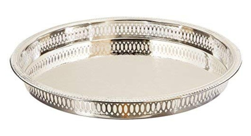 Silver serving tray 12-3/4