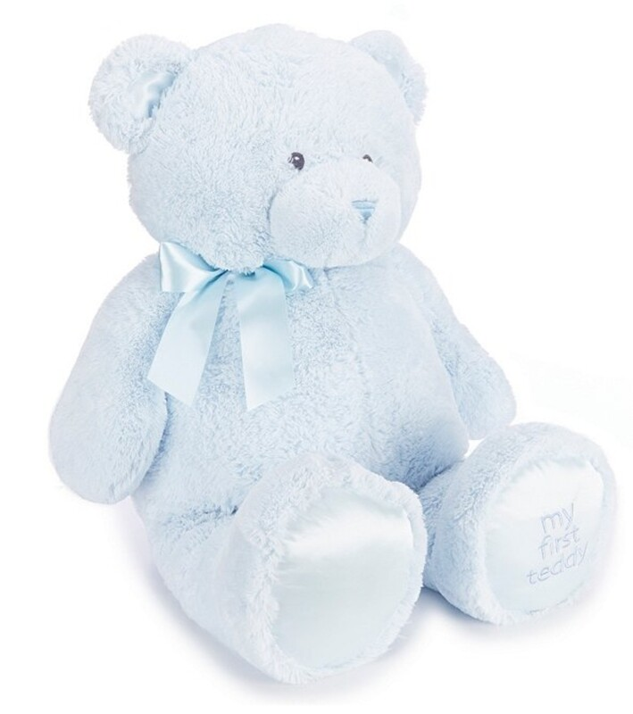 Blue stuffed teddy bear