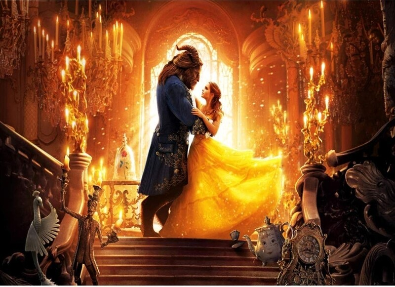 Beauty & The Beast Backdrop w/Stand and Set Up