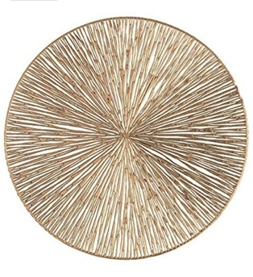 Brushed Gold Center Piece Mat (set of 10)