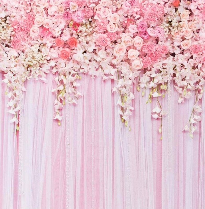 Rose flower wall backdrop 5x5 stand not included