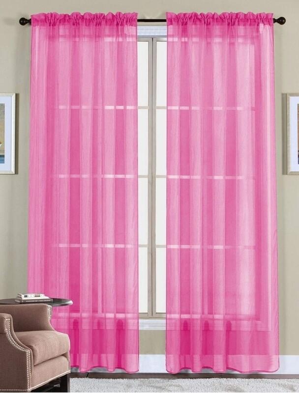 Hot Pink Sheer Panels (set of 2)