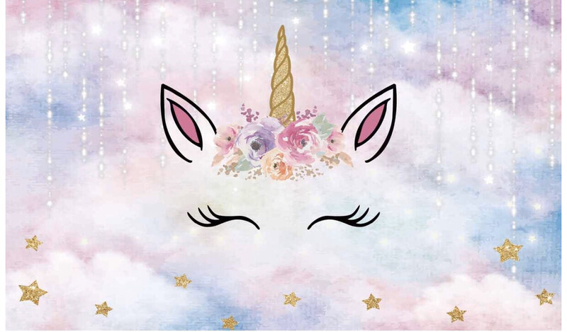 Unicorn Backdrop Includes Stand, Panels And Set Up
