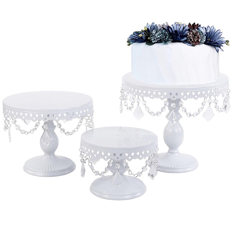White Set Of 3 Cake Stands