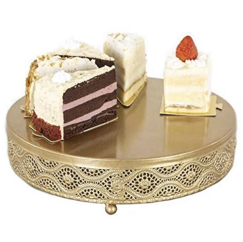 18k Gold Cake /dessert Stand  Set Of Two