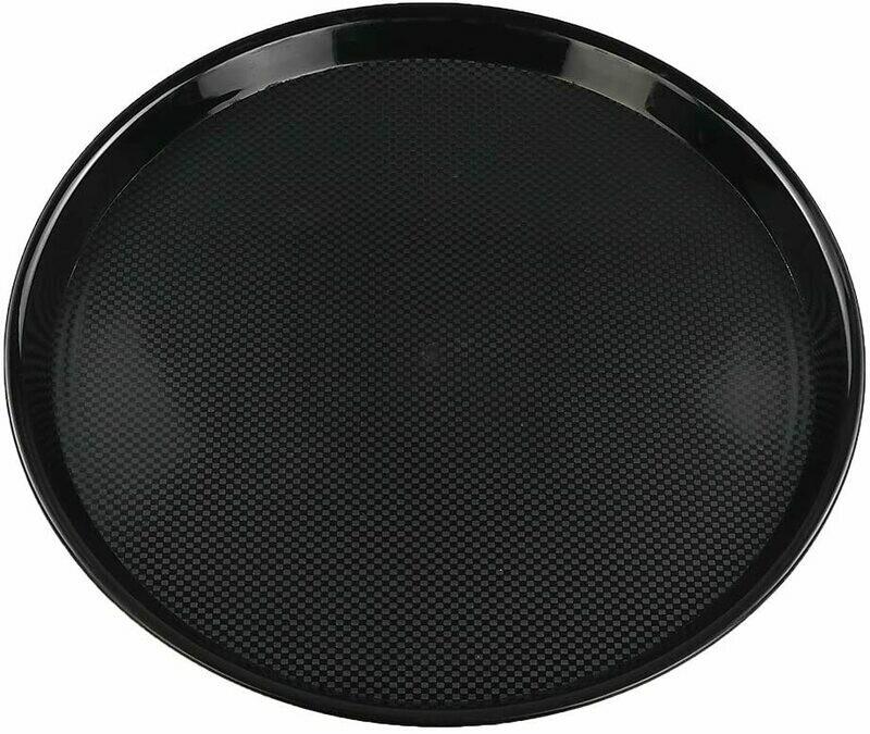 Black Round Serving Tray