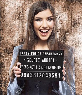 Photo Booth Prop Signs ( Party Police dept)