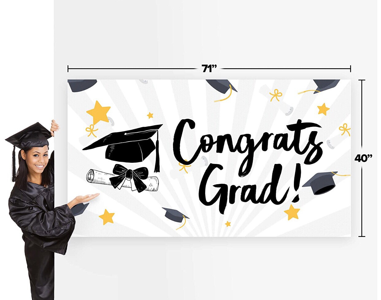 Congrats Grad Banner (B)