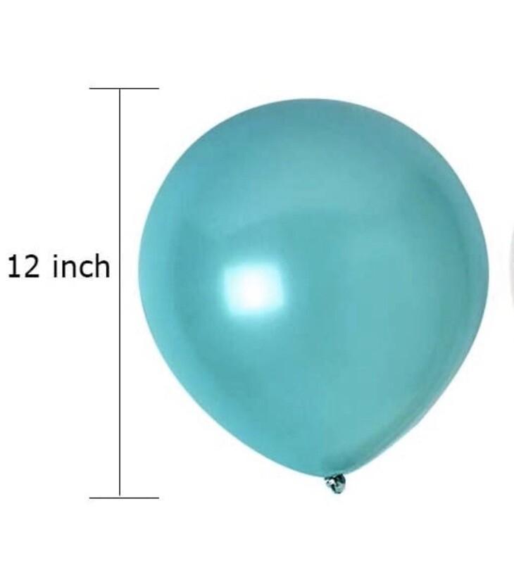 Teal Latex Balloon