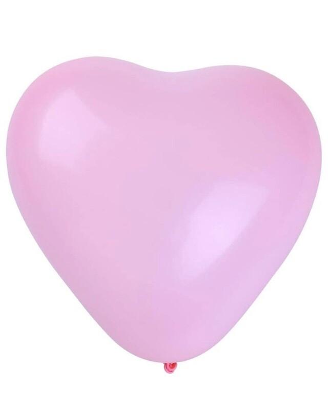 Pink Latex 12 Inch Heart Balloon
