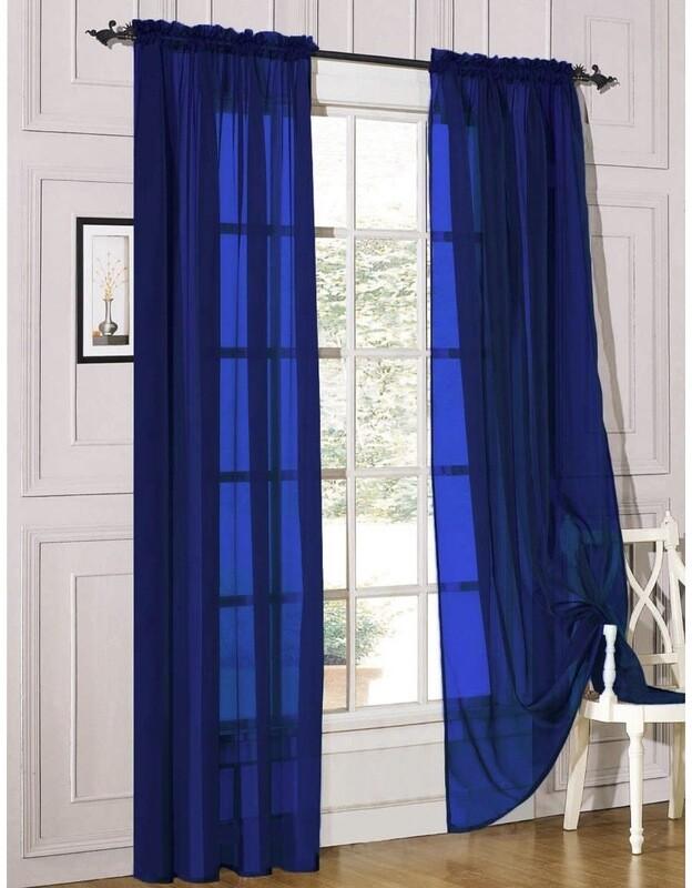 Royal Blue Two Panels