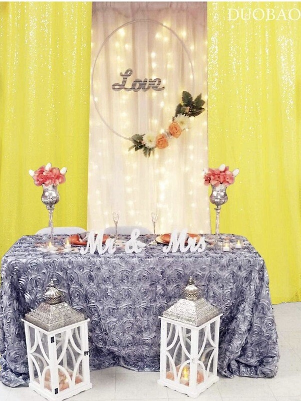 Yellow Sequin Panels (set Of Two)