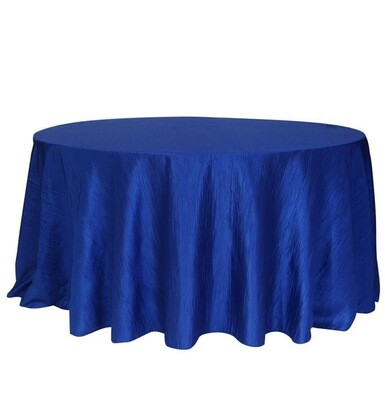 Royal Blue Taffeta Tablecloth 120 Round