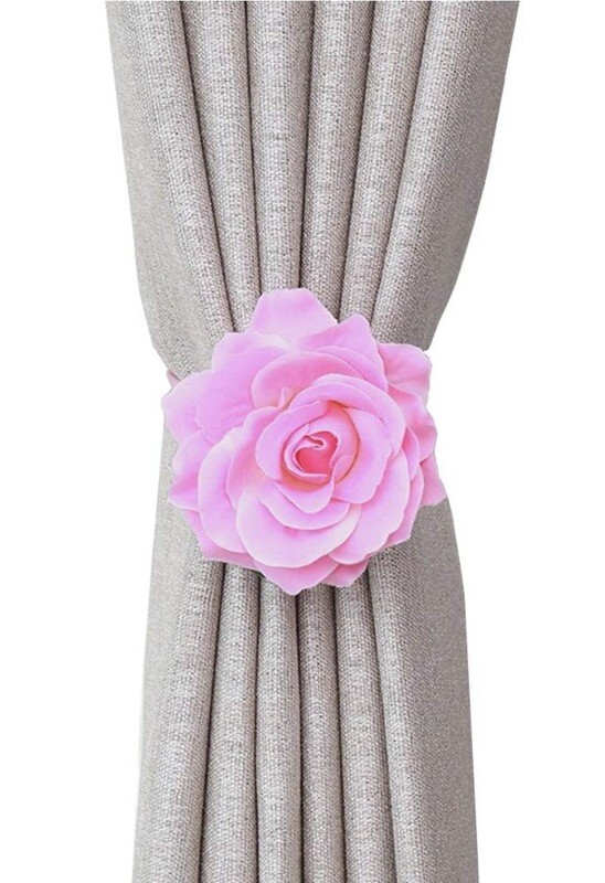 Rose Pink Magnetic Curtain Tie Back (set Of Two)