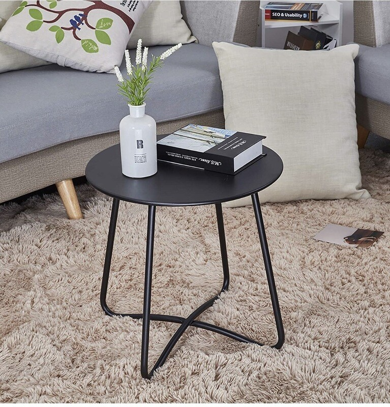 Black Small End Table