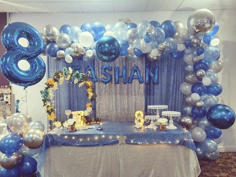 2ftx8ft , Baby blue Sequin Panels X 2