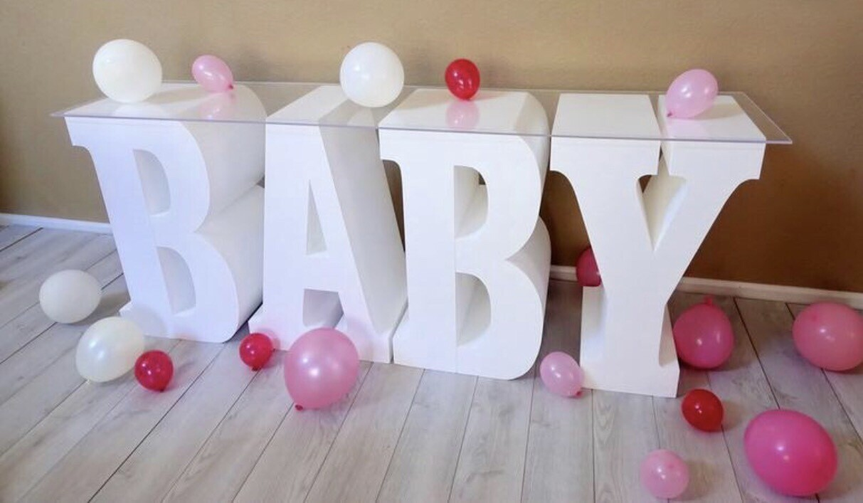 """Foam Letter Baby Table 30"""" Tall 8"""" Wide"""