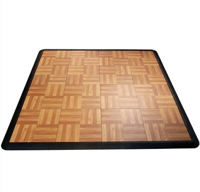 Dark Oak Portable 10x10 Dance Floor