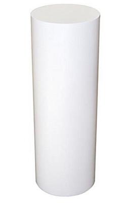 White Cylinder Pedestal - 12 Diameter Top - 36 Tall -
