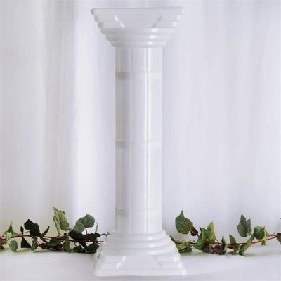 White adjustable columns x 4  Rental