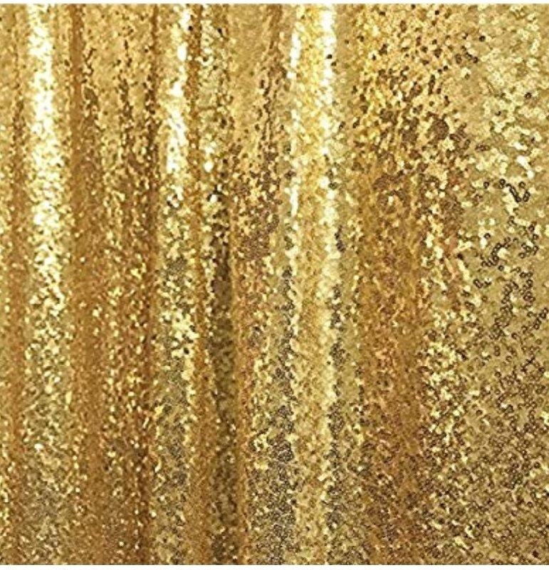 36 x84 Gold Sequin Curtian