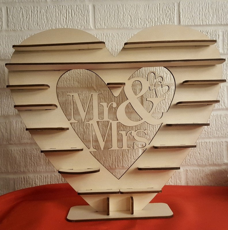 Mr. & Mrs. Candy holder sign