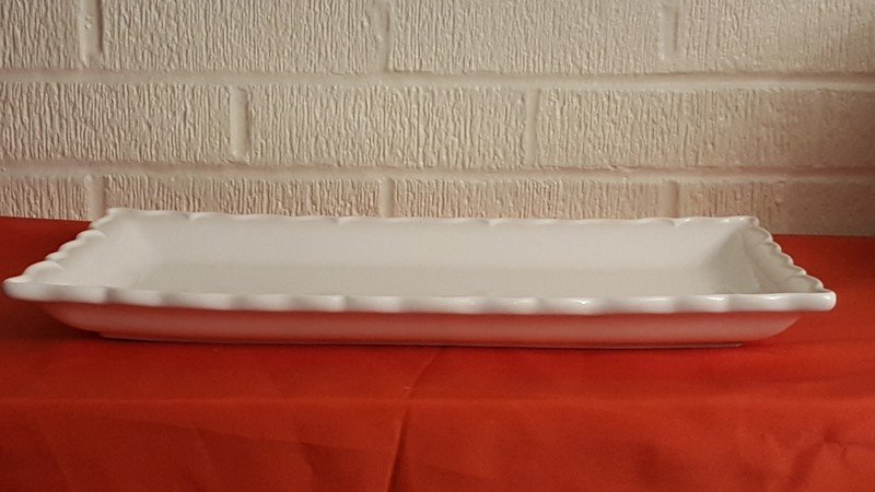White Glass Serving Tray