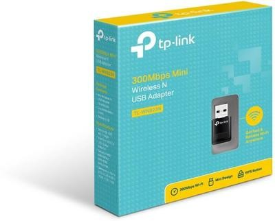 TP-LINK Wireless N Mini USB Wi-Fi Adapter (300Mbps)