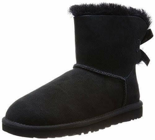 Boots met strik aan achterkant zwart
