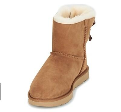 Boots met strik aan de achterkant camel