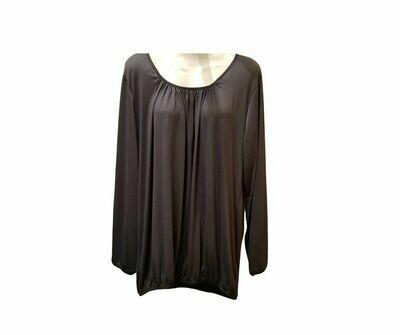Basic shirt met lange mouw grijs