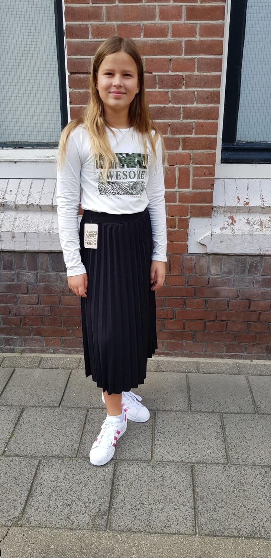 Zwarte plisse rok