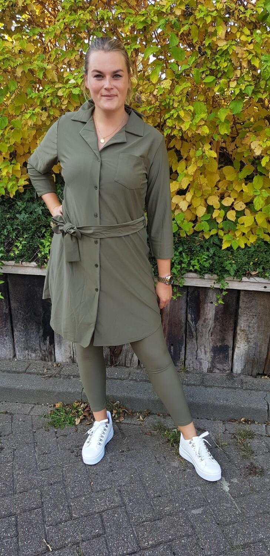 travelstof legging groen