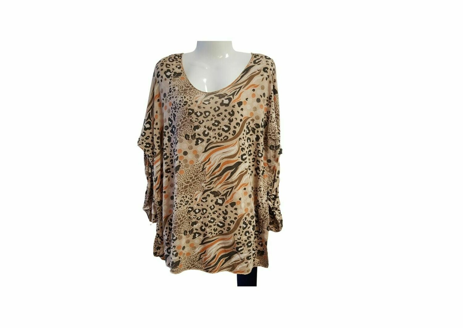 Panter vlam top beige