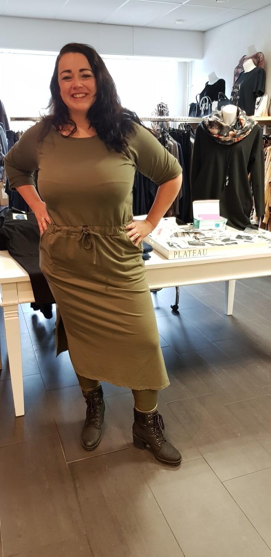 Plus size jogging jurk groen