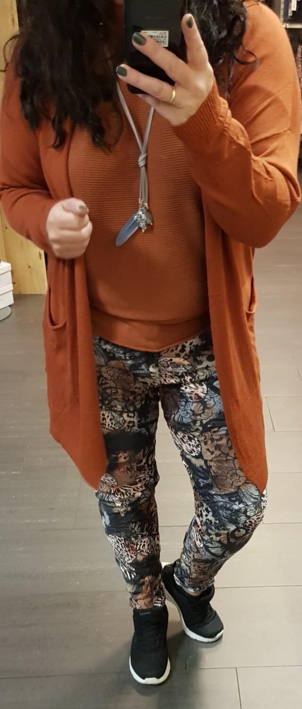 Half lang vest roest bruin