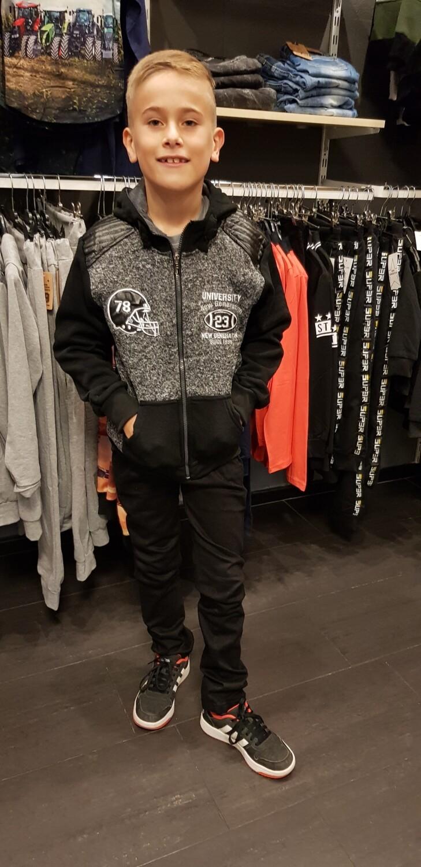 Vest grijs zwart