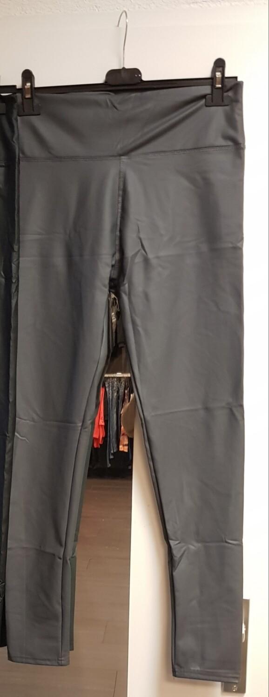 Coated legging grijs