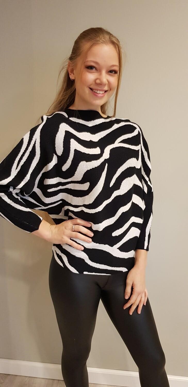 Zebra trui zwart met wit