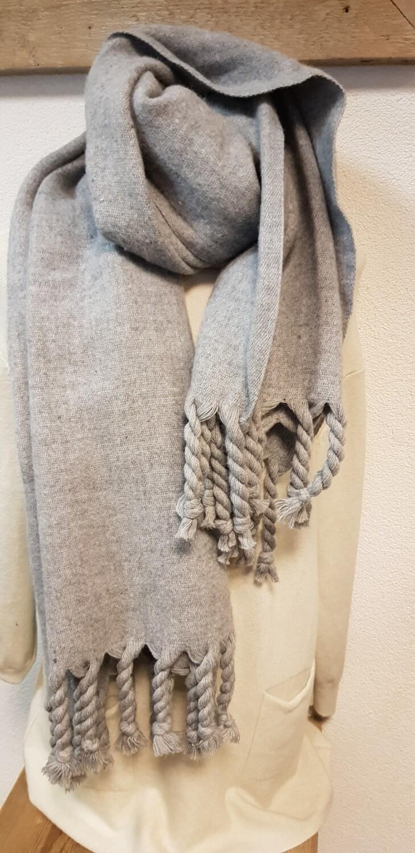 Wintersjaal grijs