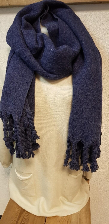Winter sjaal donker blauw