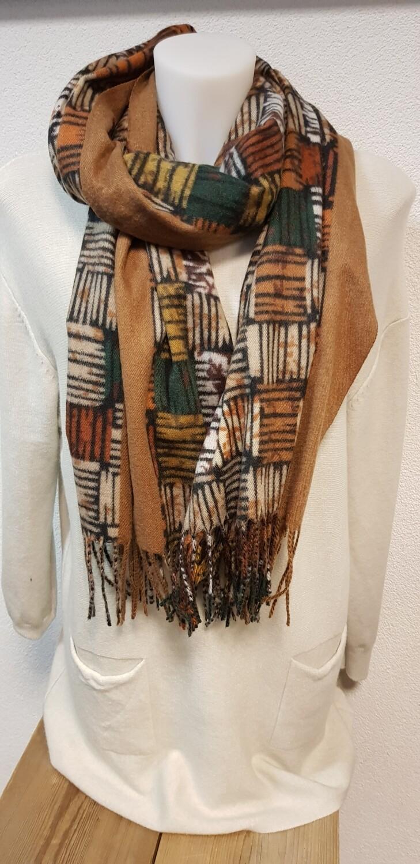 Wintersjaal bruin design