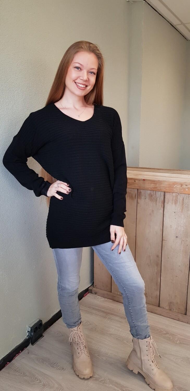 Lange trui zwart