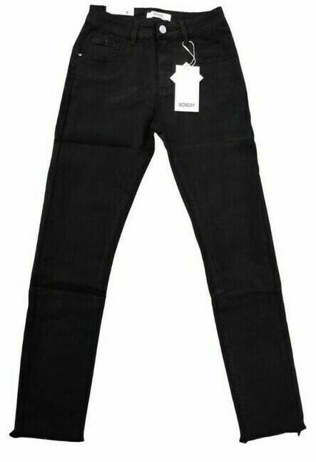 Monday stretch jeans zwart