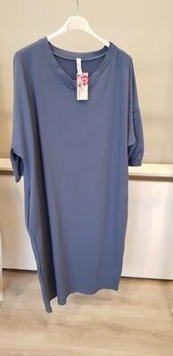 Plus size jog jurk blauw
